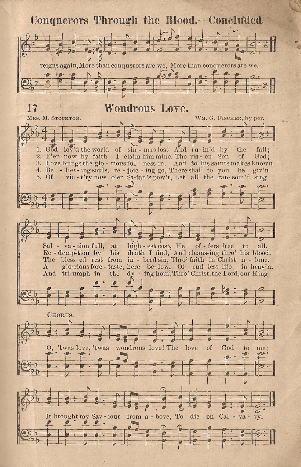 Historic hymnals song conquerors through the blood in the old song conquerors through the blood in the old story in song hexwebz Image collections