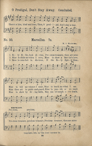 Historic Hymnals: Song: Holy Bible, Book Divine in The Great